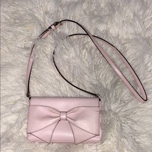 Kate spade crossbody purse baby pink bow
